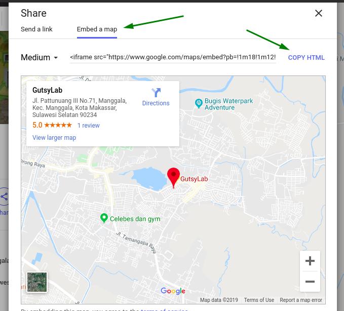 Panduan Mendapatkan Kode Embed Google Maps